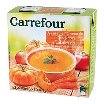 Carrefour Crema de calabaza pack 2x300 ml