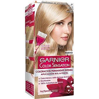 Color Sensation Garnier Tinte rubio claro nácar nº 9.13 coloración permanente intensa caja 1 unidad pincel gratis Caja 1 unidad