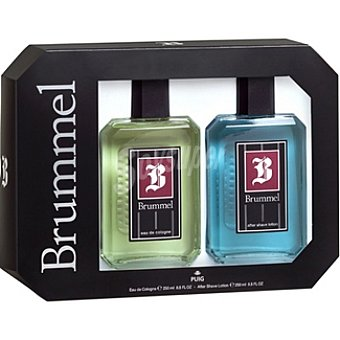 Brummel Agua de colonia masculina frasco 250 ml + after shave loción Frasco 250 ml