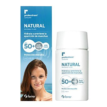 PROTEXTREM Crema solar natural antiedad FP 50+ 50 ml