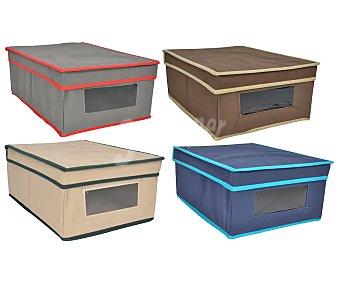 Home-line Caja de tela con tapa para ordenación, 26x36x16 centímetros home