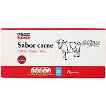 Eroski Caldo de carne 24 pastillas Caja 228 g