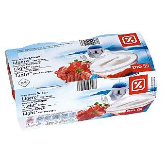 DIA Yogur griego ligero con fresas pack 4 unidades 125 g