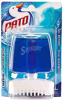 Pato Desodorizante WC líquido perfume Azul Higiénico Bloc + recambio de 55 ml.