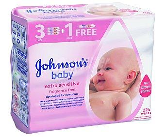 JHONSON´S BABY Toallitas de bebé extra sensitive 224 unidades