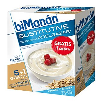 Bimanan Crema sabor yogur con cereales 5 ud