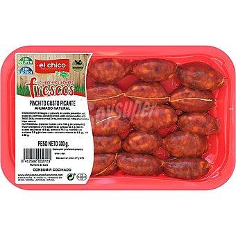 El Chico Chorizo especial para pinchito gusto picante sin gluten y sin lactosa Bandeja 300 g
