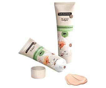 Naturaverde Fondo de maquillaje con textura líquida y cremosa, tono 003 Sabbia NATURAVERDE.