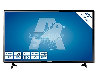 "Blaupunkt B49B148T2CS Televisión 49"" LED Full HD, TDT HD, USB reproductor y grabador, hdmi, 100HZ. Televisor de gran formato."