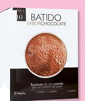 Deliplus Batido sabor chocolate (sustituye una comida) Caja 6 sobres