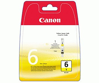 Canon Cartucho BCI-6Y Amarillo 1u