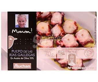 Mmm Auchan Pulpo en aceite de oliva de las rías gallegas Lata de 70 grs