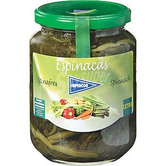 Hipercor Espinacas extra Frasco 425 g neto escurrido