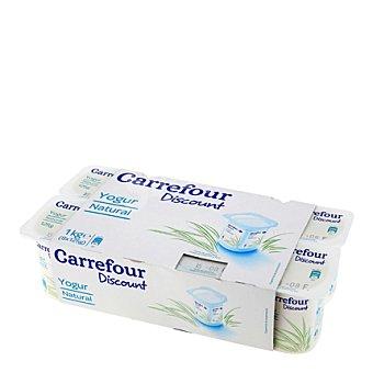 Carrefour Discount Yogur natural Pack de 8x125 g