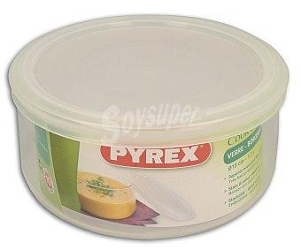 PYREX Recipiente hermético redondo fabricado en vídrio borosilicato con tapa de plástico, 15 centímetros, 1 litro de capacidad 1 unidad