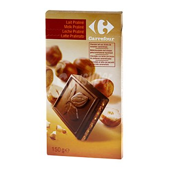 Carrefour Tableta chocolate con leche praliné 150 g