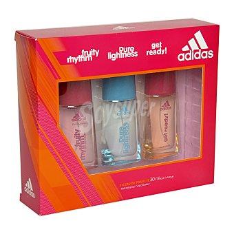 Adidas Estuche colonia Fruity Rhythm + Pure Lightness + Get Ready! Pack 3x30 ml