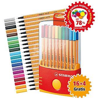 STABILO E8820-031 Estuche con 16 rotuladores + 4 gratis