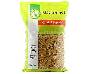 Productos Económicos Alcampo Macarrones, pasta de sémola de trigo duro de calidad superior Paquete de 1 kilogramo