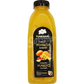 SoNatural Zumo de manzana, mango y plátano sólo con fruta fresca Botella 750 ml