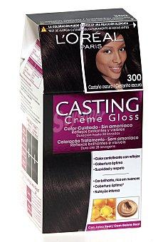 Casting Crème Gloss L'Oréal Paris Tinte color castaño oscuro nº 300 Caja 1 ud