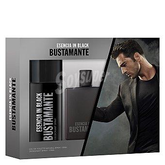 Bustamante Estuche Esencia in Black colonia 100 ml + desodorante 150 ml. 1 ud