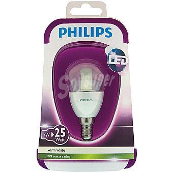 Philips (25 W) lámpara LED blanco cálido casquillo E14 (fino) Esférica Clara 4 W