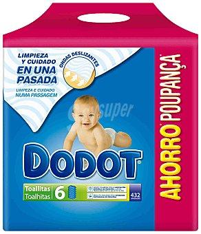 Dodot Toallitas infantiles Pack 6 envases 72 unidades