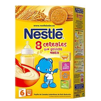 Nestlé Papilla en polvo con 8 cereales y galleta a partir de 6 meses Caja 600 g