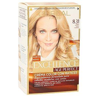 Excellence L'Oréal Paris Age Perfect tinte rubio dorado nº 8.31 crema color en matices caja 1 unidad para cabellos maduros y blancos Caja 1 unidad