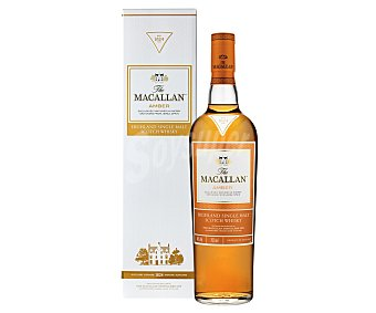 Macallan Whisky Single Malt Amber 40% Botella de 70 Centilitros