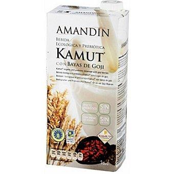 AMANDIN Bebida ecológica y prebiótica de kamut con bayas de Goji sin lactosa Envase 1 l