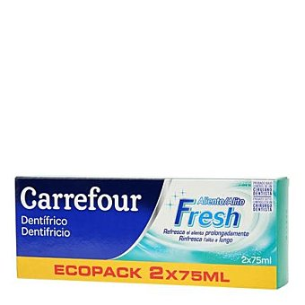 Carrefour Dentrífico aliento fresco Carrefourpack 2 unidades de 75 ml