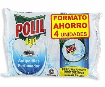 Polil Raid Antipolillas Colonia colgador 4 Unidades