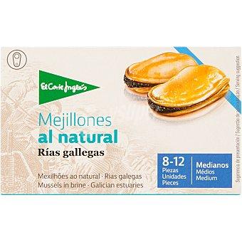 El Corte Inglés mejillones al natural de las rías gallegas 8-12 piezas  lata 69 g neto escurrido