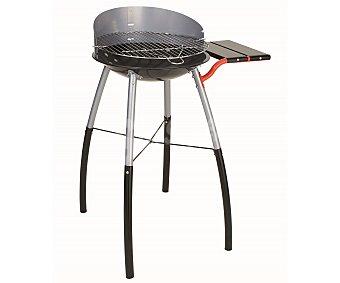 GARDEN MAX Barbacoa redonda de carbón modelo Tondino, de 42 centímetros, con parrilla de acero cromado, cuba de acero esmaltado, paraviento y bandeja lateral. Para 6 personas 1 unidad