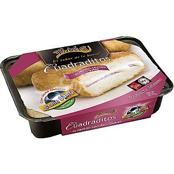 Fridela Cuadraditos de jamón y queso Bandeja 300 g