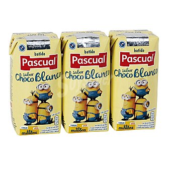 Pascual Batido sabor chocolate blanco Pack 3 u x 200 ml