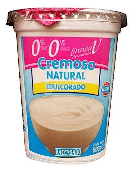 Hacendado Yogur desnatado cremoso natural edulcorado u 500 g