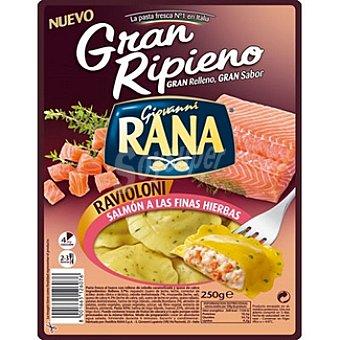 GIOVANNI RANA GRAN RIPIENO Ravioloni fresco relleno de salmón a las finas hierbas Envase 250 g