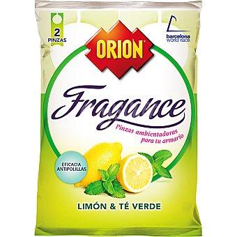 Orion Pinza antipolillas perfume limón sin naftalina 2 unidades