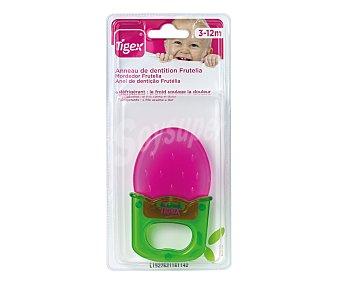 Tigex Anillo dentición para bebé, color rojo, frutelia