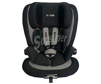 Baby nurse Silla de auto para grupo i/ii/iii, sistema isofix, color gris, coach babynurse