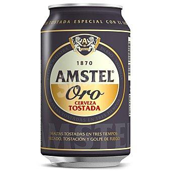 Amstel Oro cerveza tostada Lata 33 cl