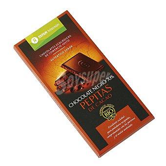 Intermón Oxfam Chocolate negro 70% pepitas de cacao ecológico Tableta de 100 g