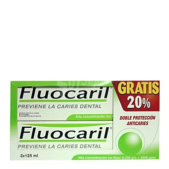 Fluocaril Pasta dental bi-fluore Pack 2x125 ml