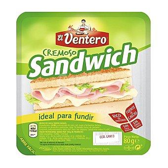 El Ventero Queso sandwich lonchas Envase de 80 g