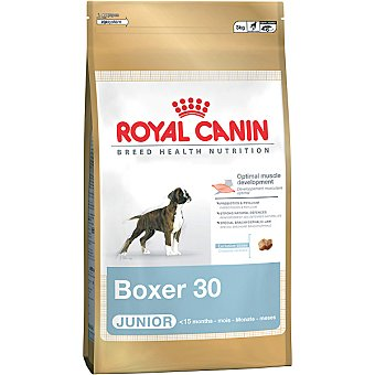 Royal Canin Alimento completo especial para cachorros de raza bóxer hasta los 15 meses Junior Bolsa 12 kg