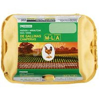 Eroski Huevo campero dieta 65% cereal M 6 unid