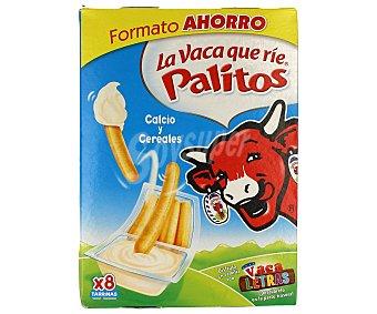 La Vaca que ríe Crema de queso con palitos de pan para mojar Pack 8 u x 35 g